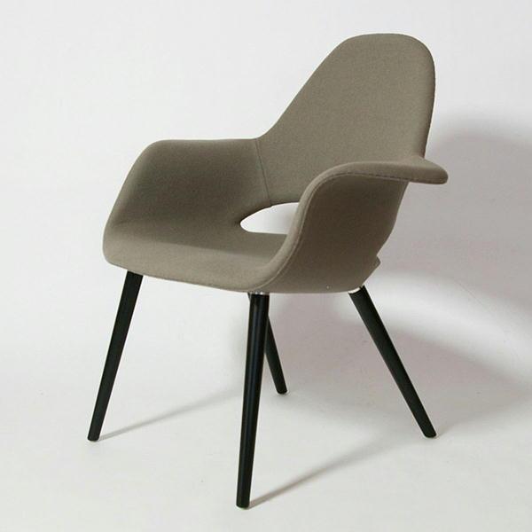 オーガニックチェア Organic Chair イームズ&サーリネン ビーチ・ブラック脚 リプロダクト ミッドセンチュリー 北欧モダン