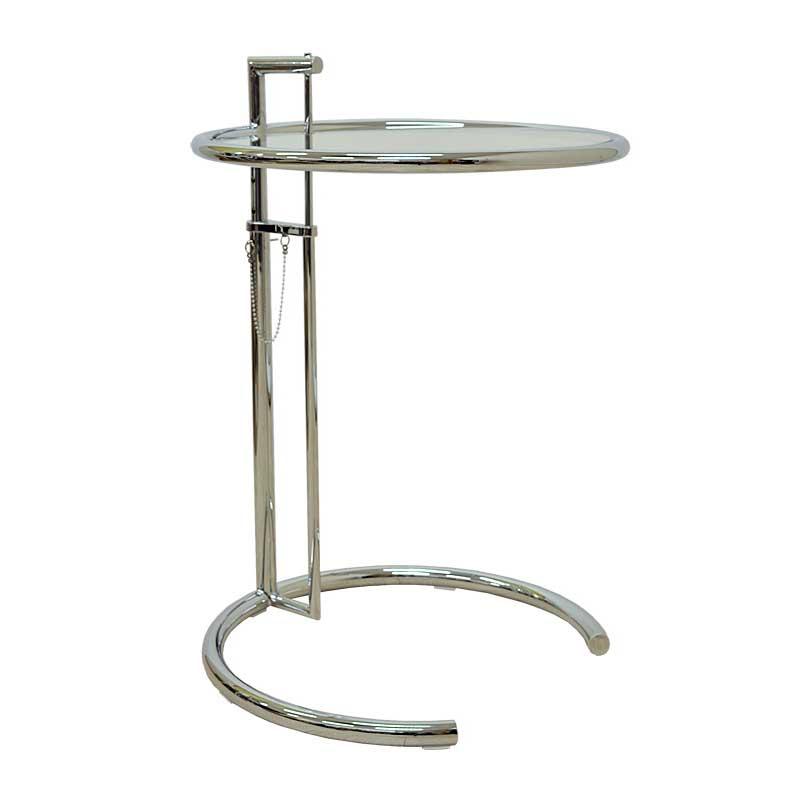 E1027 サイドテーブル アイリーン・グレイ カクテルテーブル 強化ガラス リプロダクト シンプルモダン
