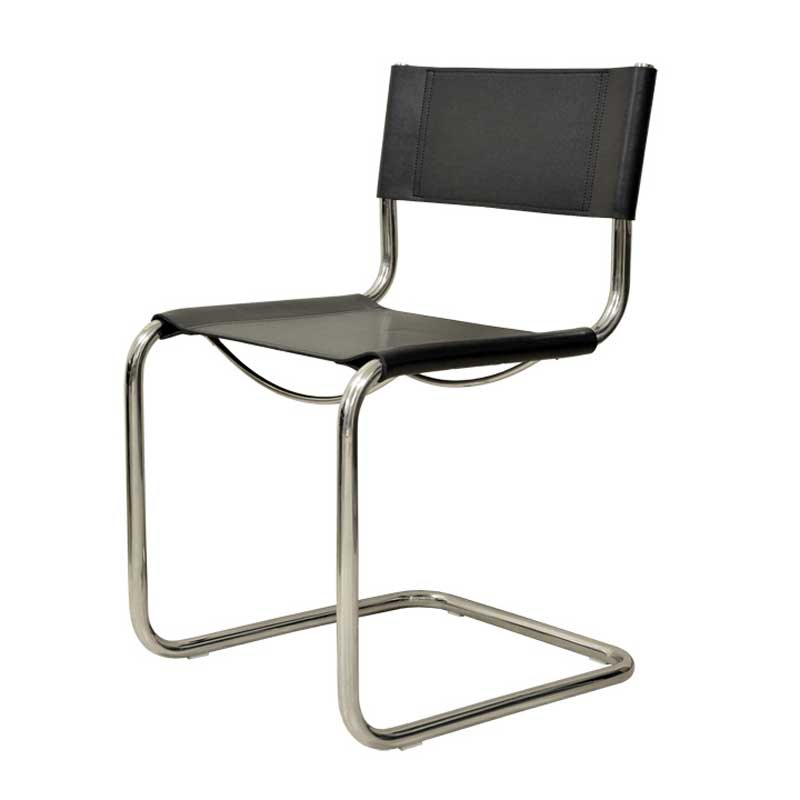 ダイニングチェア カンチレバーチェア マルト・スタム Martoss Chair ブラック キャンティレバー リプロダクト シンプルモダン