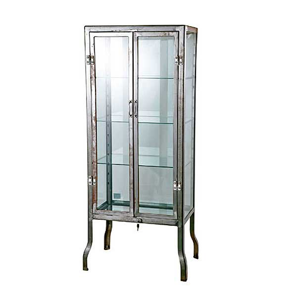 ダルトン ドクターキャビネット DOCTOR CABINET Lサイズ ローフィニッシュ仕上げ ガラスキャビネット ディスプレイ スチール製 飾り棚 ショーケース