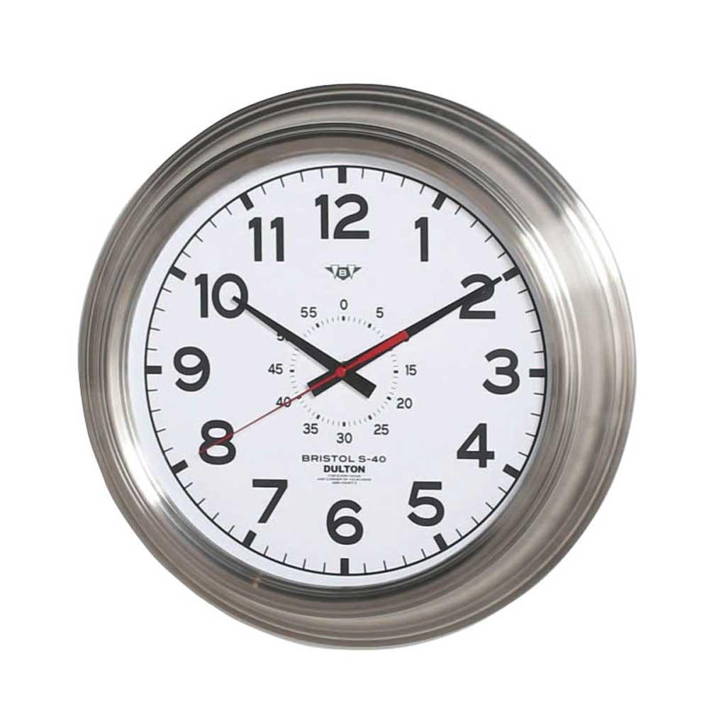 壁掛け時計 ダルトン ウォールクロック ブリストル S-40 ホワイト 直径40.5cm シンプル レトロ アメリカンヴィンテージ調