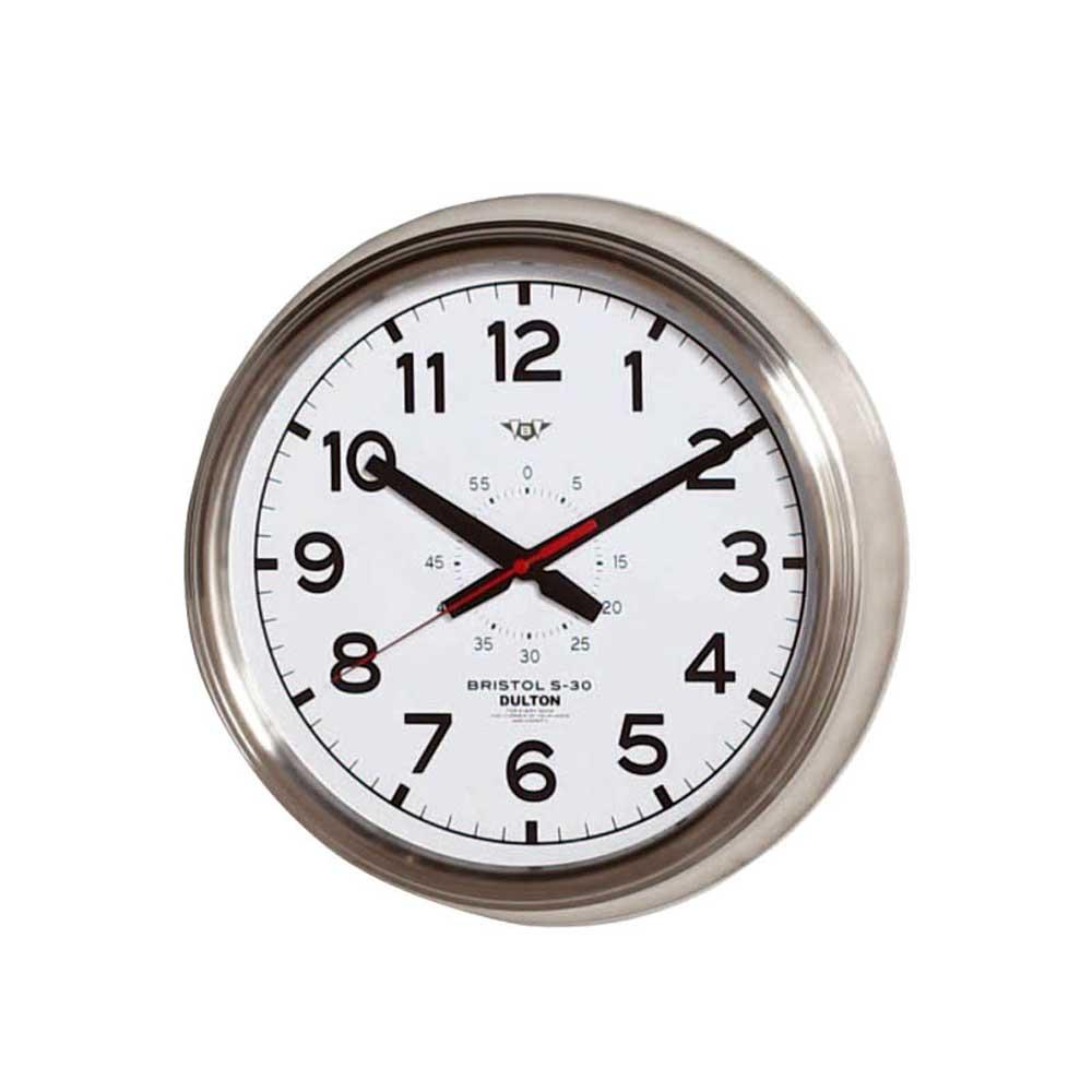 壁掛け時計 ダルトン ウォールクロック ブリストル S-30 ホワイト 直径30.5cm シンプル レトロ アメリカンヴィンテージ調