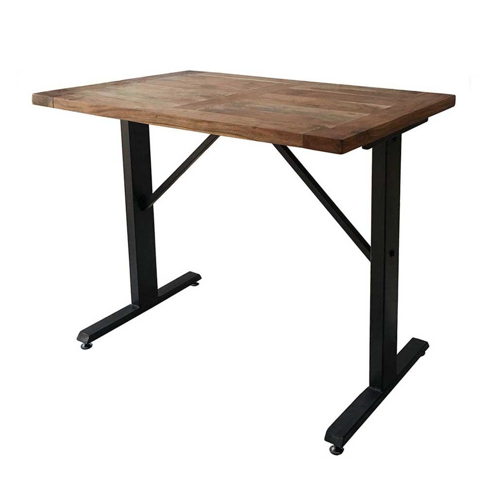 カウンターテーブル バーテーブル スパイス ANCIENT 120×75cm 高さ100cm 長方形 無垢材+スチール 2~4人用 カフェテーブル ブルックリンスタイル