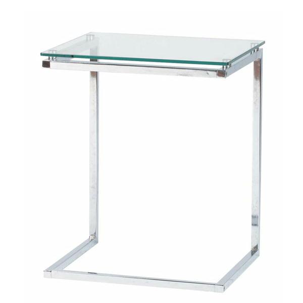 ガラス製サイドテーブル PT-15 シンプルデザイン