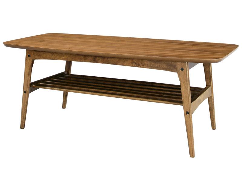 リビングテーブル コーヒーテーブル Lサイズ 105×50cm Tomte ウォールナット 北欧モダン