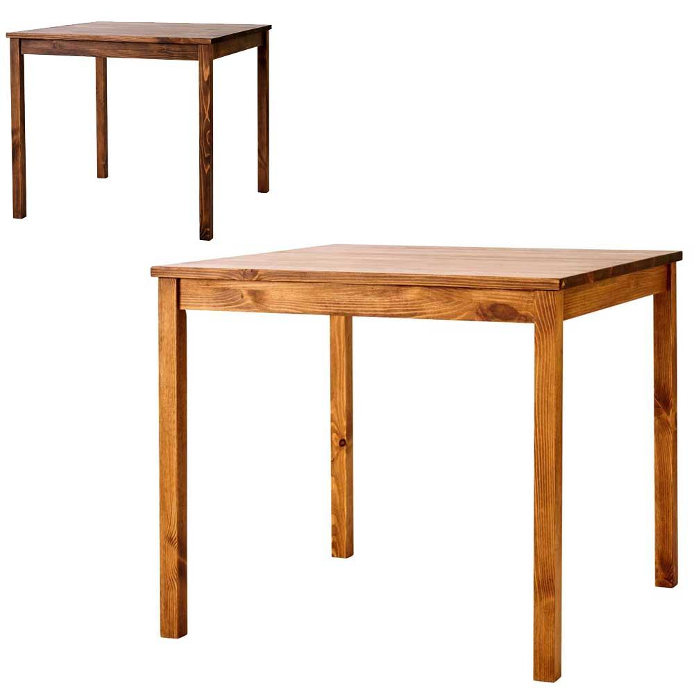 ダイニングテーブル SOME 80×80cm 正方形 パイン無垢材 シンプル カントリー 2人用