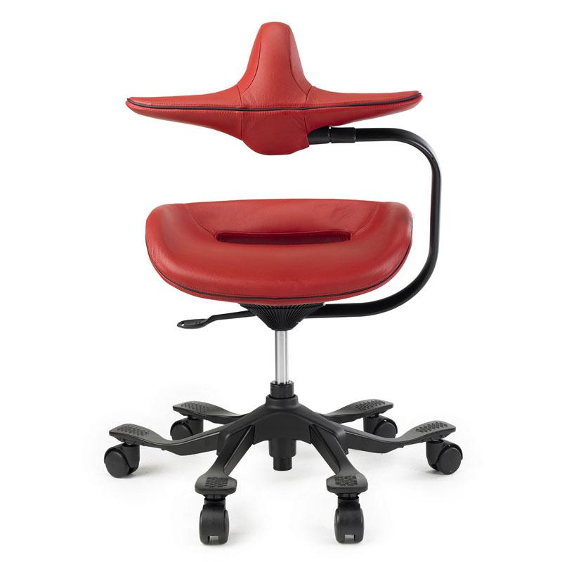 オフィスチェア ワーキングチェア iPole 7 アイポールセブン ウリドゥルチェア 本革張りタイプ 姿勢矯正 腰痛 腰負担軽減