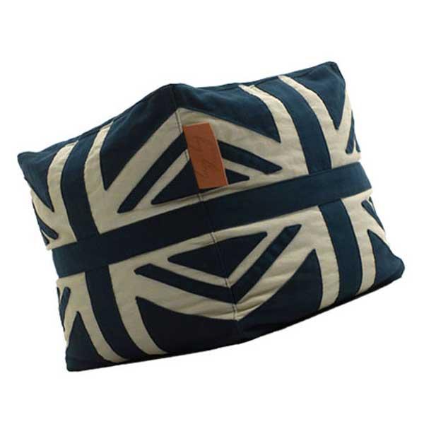 Lazy Bag ビーズクッションスツール 159-BB ユニオンジャック カバーリング ブルー/ホワイト