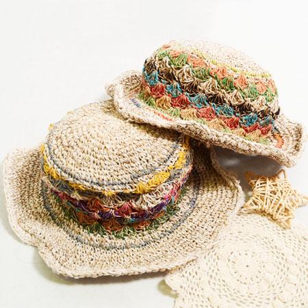 紫外線対策に欠かせないナチュラル自然素材の帽子ヘンプハットです ...