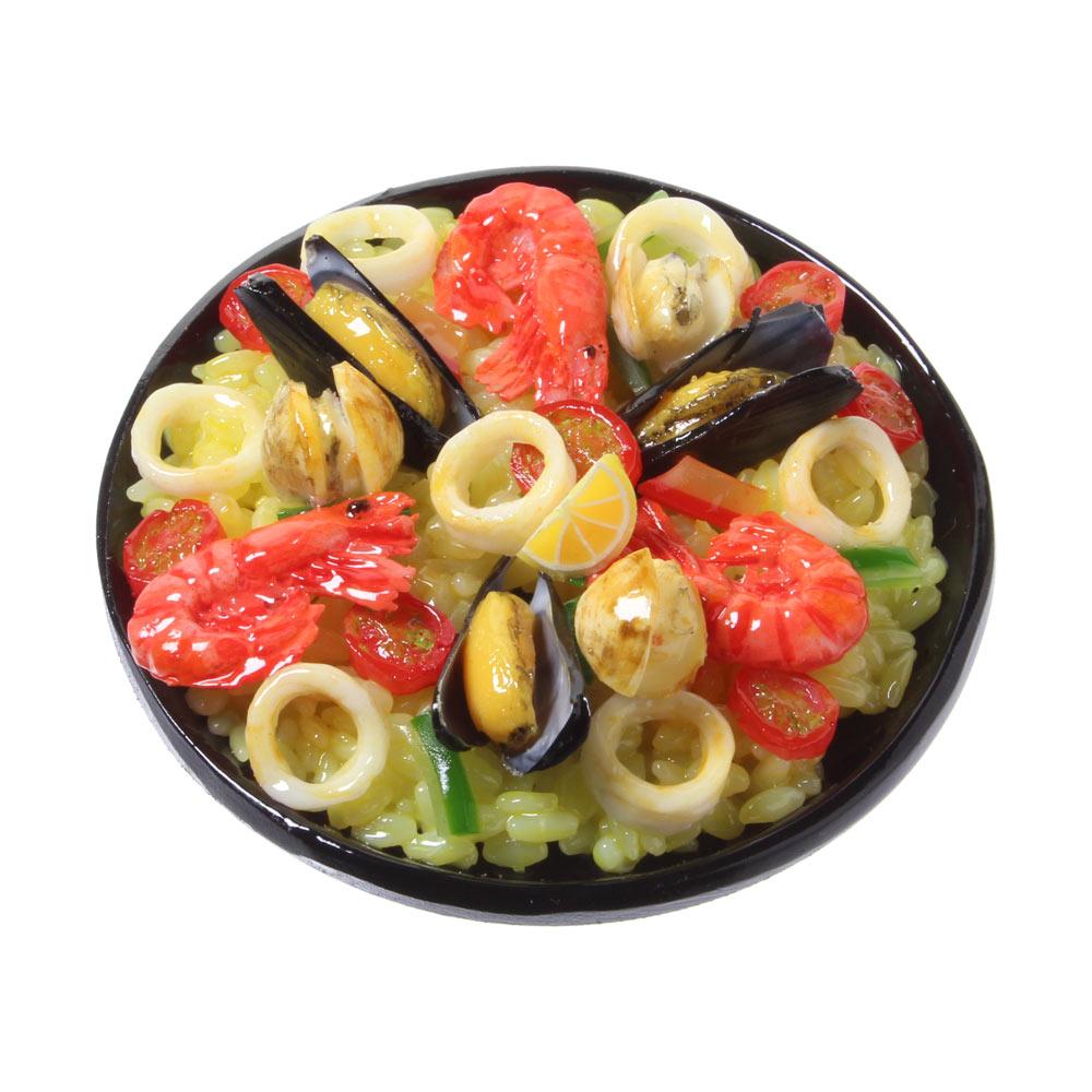 【メール便不可】食品サンプル屋さんのマグネット(パエリア)食品サンプル ミニチュア 雑貨 食べ物 スペイン 磁石 外国 土産 リアル