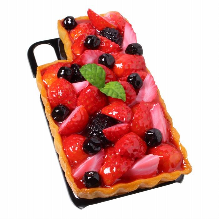 【メール便不可】食品サンプル屋さんのスマホケース(iPhone XS、iPhone XS Max、iPhone XR:いちごタルト)食品サンプル iPhone ケース カバー 雑貨 食べ物 スマートフォン
