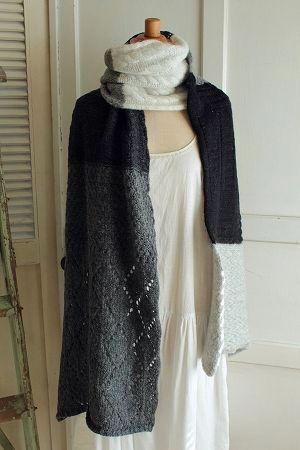 Sale 国内正規総代理店アイテム Calimar〈カリマール〉飾り編みミックスマフラーGY 新着