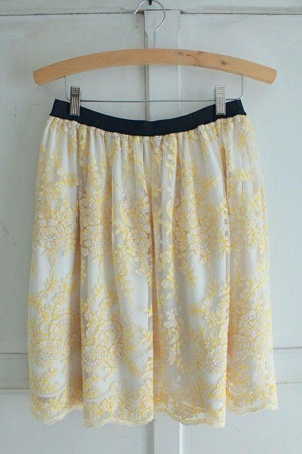 【Sale】【送料無料】Porter des boutons〈ポルテ デ ブトン〉スカラップレーススカート