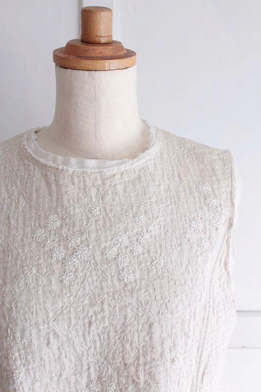 【Sale】【送料無料】nesessaire〈ネセセア〉カンタ刺繍ワンピース