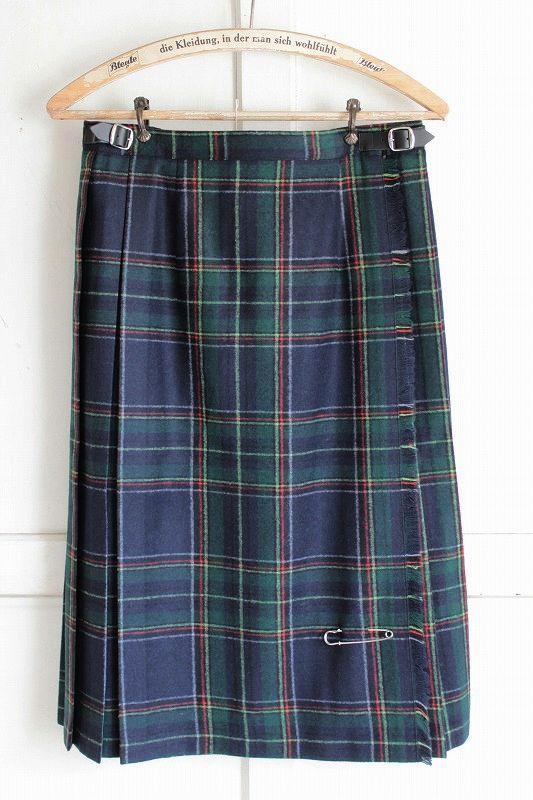 【送料無料】O`NEIL OF DUBLIN {オニールオブダブリン} イージーキルトラップスカート(ANCIENT NAVY STAWART)