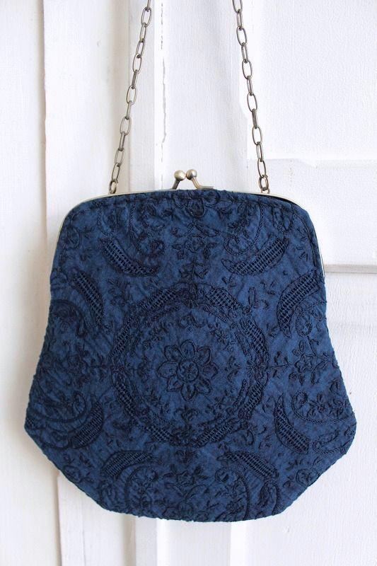 レターパック発送可 nesessaire〈ネセセア〉Shantou handkerchief スーパーセール期間限定 bag 発売モデル NV