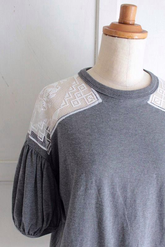 レターパック発送可 有名な nesessaire〈ネセセア〉フィレレースTシャツ CC 新着セール