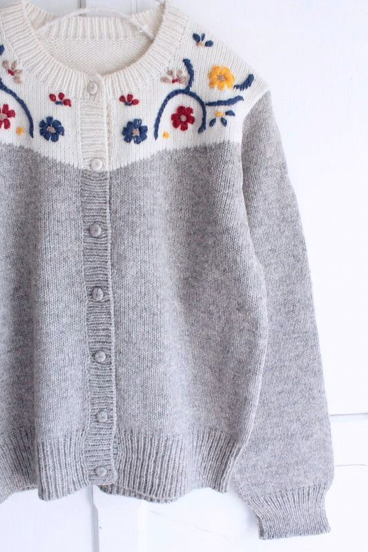 made 新作からSALEアイテム等お得な商品 満載 使い勝手の良い in フラワー刺繍カーディガン Peru