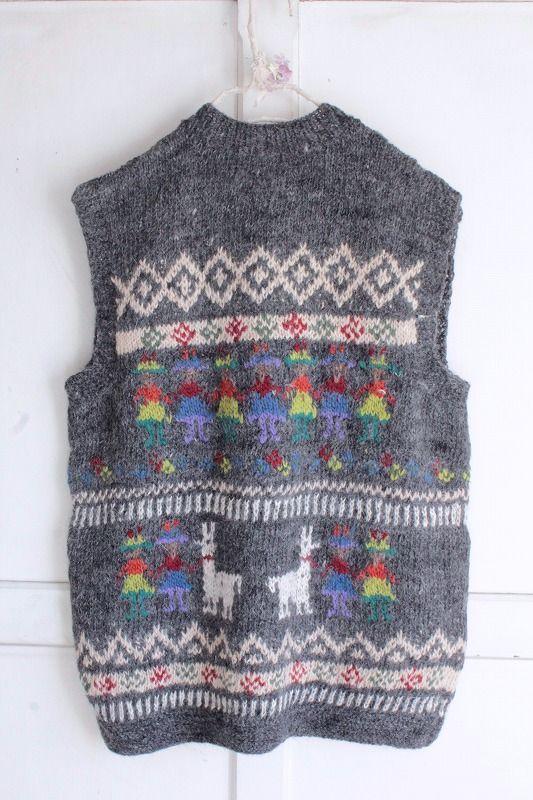 made in Peru アルパカ ガールベストCCCordxBe