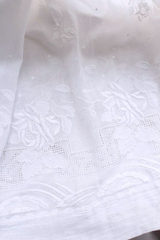 【送料無料】【Antique】 ローズ刺繍スカート