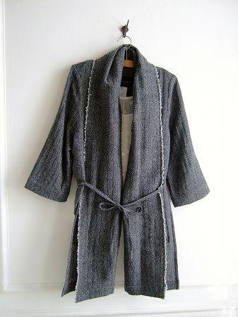 【Sale】【送料無料】SI-HIRAI〈スーヒライ〉ドットキャミソール付きウールジャケットGY
