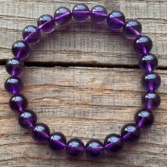 高品質 贈物 パワーストーン アメジスト 交換無料 8mm 数珠 ブレスレット 恋愛運 ウルグアイ産 天然石 紫水晶 セール