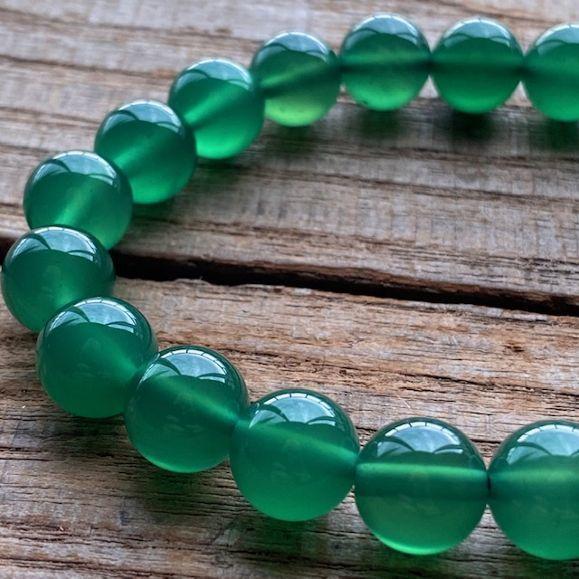 パワーストーン グリーンオニキス グリーンアゲート 発売モデル 高品質 10mm 数珠 ブレスレット 瑪瑙 高い素材 シンプル おしゃれ 癒し プレゼント ファッション メンズ 健康の維持 レディース お守り さざれ石