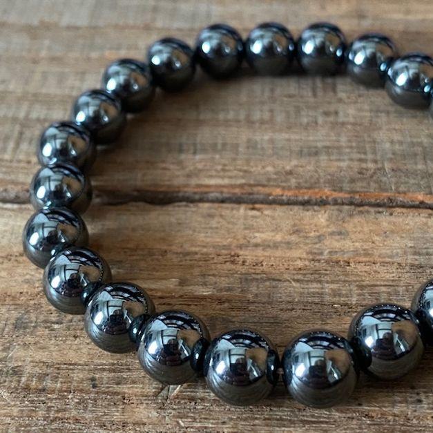 パワーストーン ヘマタイト 数珠 ブレスレット 磁気なし 磁器なし 出群 8mm 超激安特価
