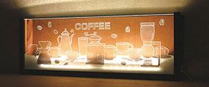 イラストledライト 名入れ無料 le0001 【コーヒー】[名入れ可]プレゼント・オリジナルギフト・贈り物・記念品・インテリア《noo(ヌー)》【楽ギフ_名入れ】