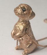 ペット遺骨ペンダント【あなたのペットの姿完全立体型】K18ピンクゴールド【制作例3】