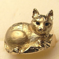 あなたのペットモデル猫の指輪k18(制作例は猫のCちゃん)