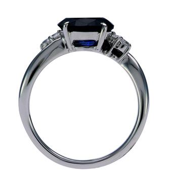 人気の 【リングリフォーム用】オーバル宝石用メレ入り 指輪 空