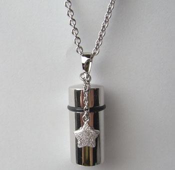 シルバー小型遺骨ペンダント星チャーム・50cmチェーン