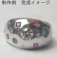 指輪リフォーム ジュエリーリフォーム ふっくらプラチナリング(セミオーダー、リフォーム)