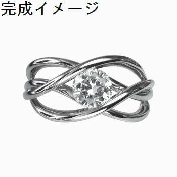 【リフォーム・セミオーダー用指輪空枠】4本ラインリング枠
