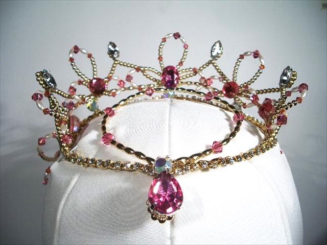 ballet headpiece tiara japan 手作りバレエティアラ 3-3