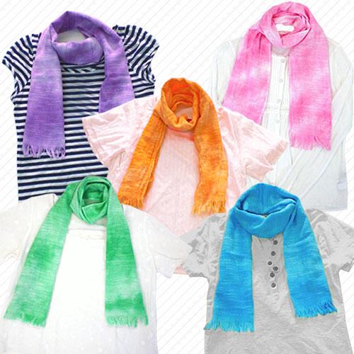 ◆ your walk for cotton gauze scarf * uneven dye colors * ◆ towel unisex ladies men's Japan-02P24Jun11