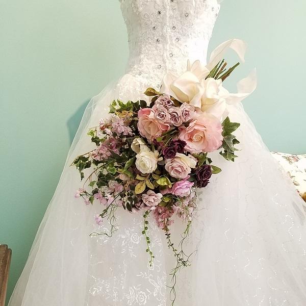 *misuzu*アンティークカラーのアームブーケ前撮り・海外挙式・リゾ婚 ブライダル ボリューム感 大人花嫁 クール シック 豪華 極上