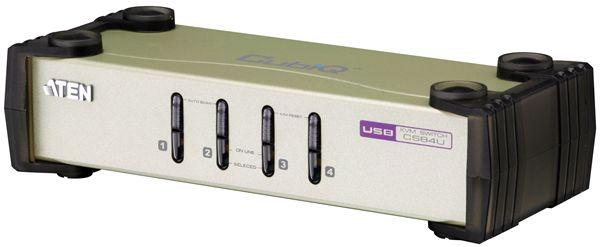 【送料無料】【3年保証】ATEN 4ポート PS/2・USB対応 KVMスイッチ 【CS84U】