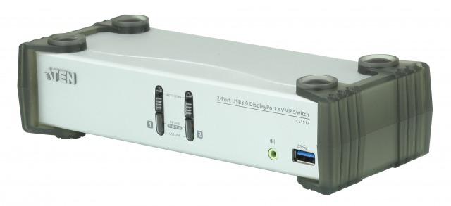 【送料無料】【三年保証】USB 3.0ハブ搭載 2ポートUSB DisplayPort KVMスイッチ【CS1912】