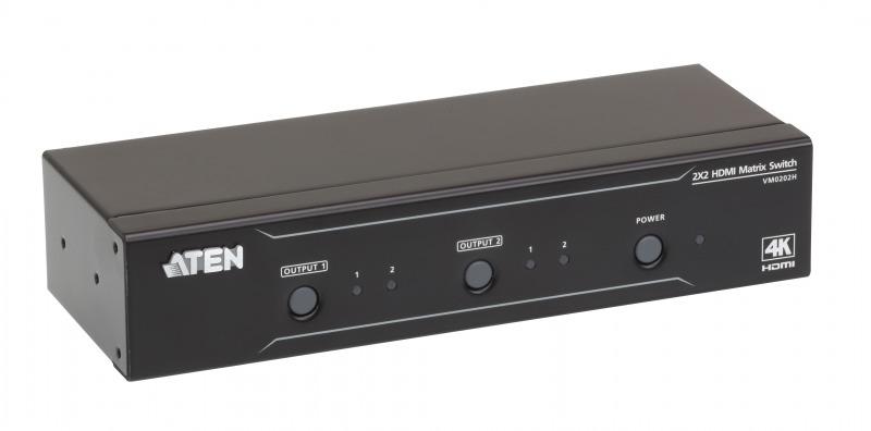 【送料無料】【3年保証】2入力2出力HDMIマトリックススイッチャー(4K対応)【VM0202H】