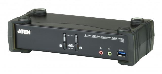 【送料無料】【三年保証】USB 3.0ハブ搭載 DCI 4K対応 2ポートUSB DisplayPort KVMPスイッチ【CS1922】