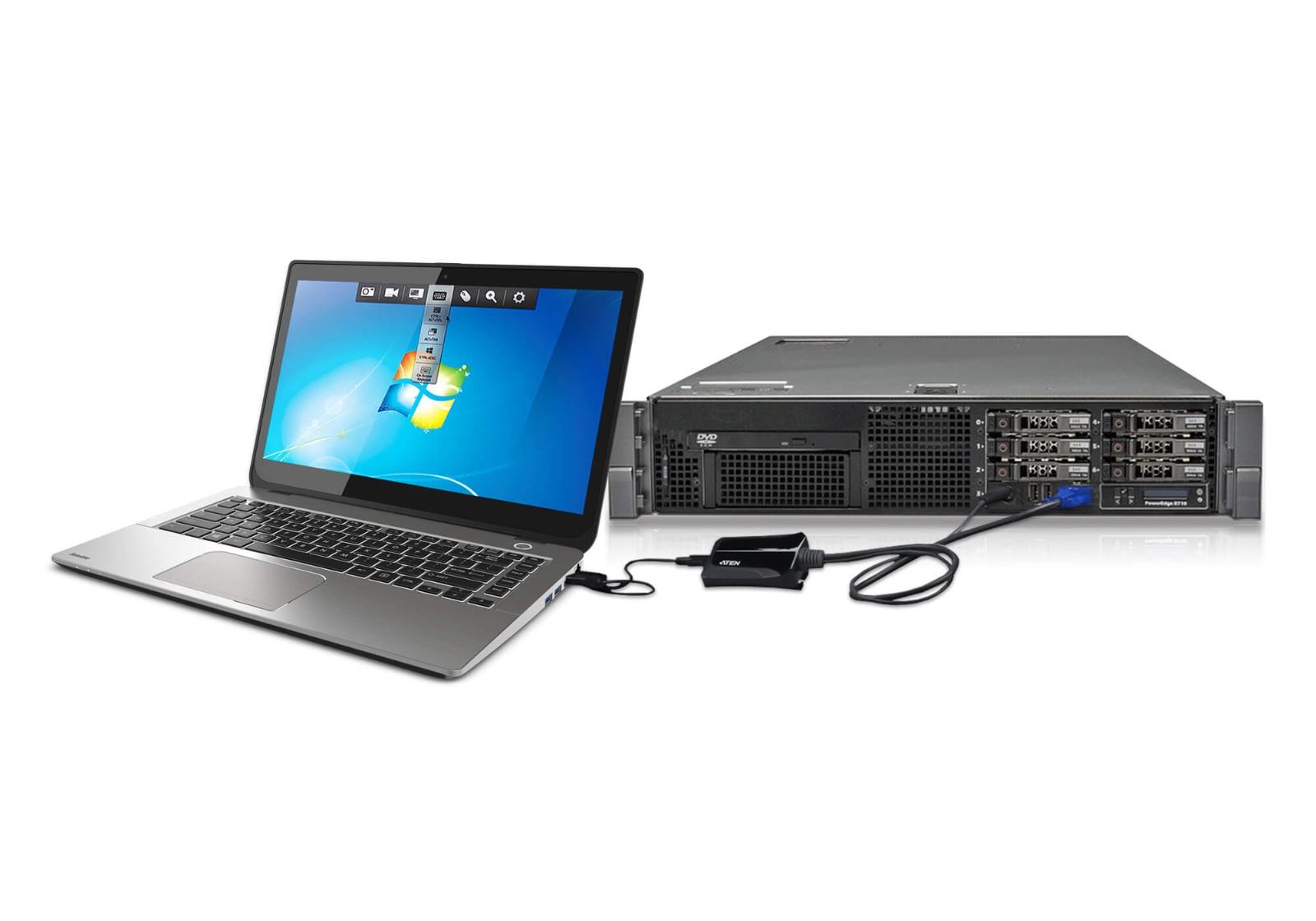 【3年保証】 クラッシュカートアダプター USB KVMコンソール ITキット 【CV211CP】 ラップトップ 【送料無料】