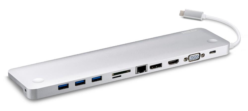 【新生活・新年度応援フェア】USB-C 10 in 1ドッキングステーション UH3234【HDMI/DisplayPort/VGA USB3.1×3(BC1.2×1)SD / MMC / MicroSD、ギガビットLAN、USB-C(PD対応)】【送料無料】【3年保証】