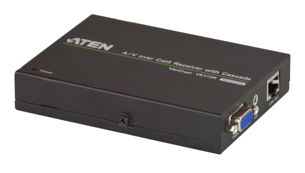 【送料無料】【3年保証】 ビデオ分配送信器/エクステンダー用VGA/オーディオレシーバー(カスケード接続対応、1,280×1,024@150m)【VE172R】
