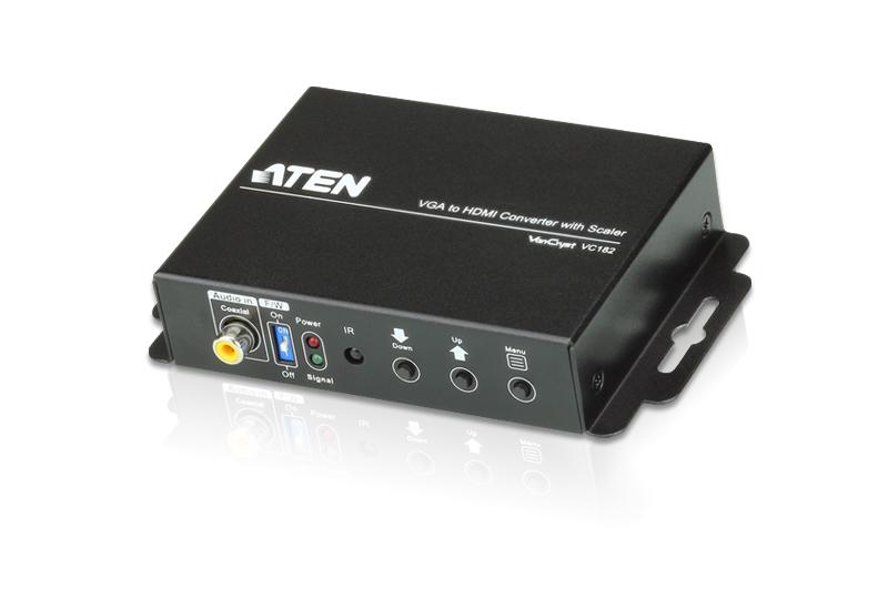 【送料無料】【3年保証】ATEN スケーラー搭載【オーディオ・VGA → HDMIコンバーター【VC182】