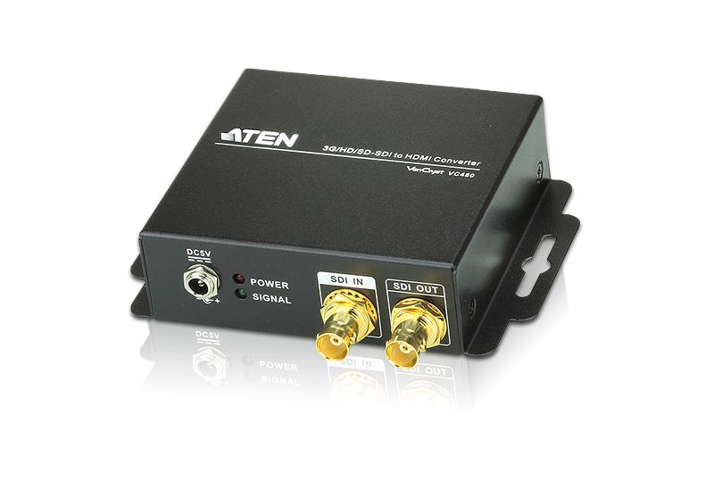 【送料無料】【3年保証】ATEN 3G/HD/SD-SDI信号をHDMI信号に変換できるコンバーター【VC480】