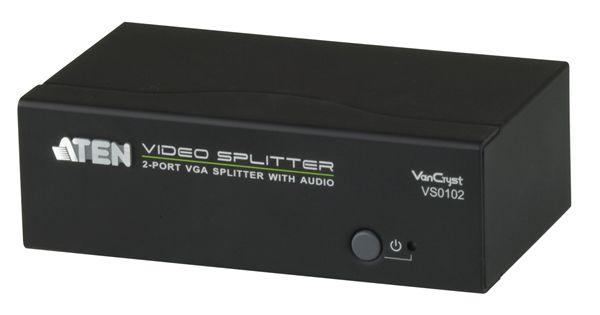 【送料無料】【3年保証】ATEN 1入力2出力 VGA・オーディオ分配器 【VS0102】