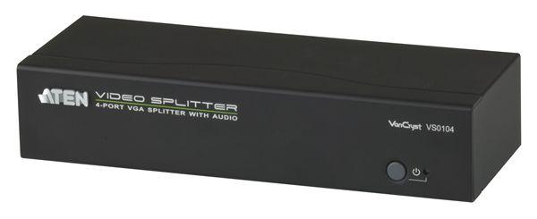 【送料無料】【3年保証】ATEN 1入力4出力 VGA・オーディオ分配器 【VS0104】