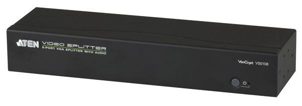 【送料無料】【3年保証】ATEN 1入力8出力 VGA・オーディオ分配器 【VS0108】